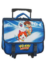 Cartable A Roulettes 2 Compartiments Yokai watch Bleu attack YOKEI18