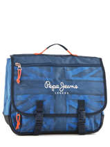 Cartable 2 Compartiments Pepe jeans Bleu fabio 60951
