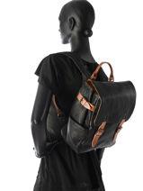 Sac à Dos Paul marius Noir vintage AUDACIEU-vue-porte