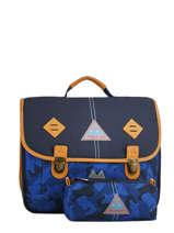Cartable 2 Compartiments Avec Trousse Offerte Poids plume Bleu camo CAM1738