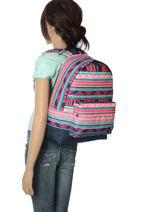 Sac à Dos 1 Compartiment Roxy Noir back to school RJBP3728-vue-porte