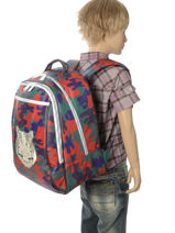 Sac à Dos James Jeune premier Multicolore canvas JA018-vue-porte