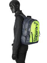 Sac A Dos 2 Compartiments Superdry Noir backpack men M91022DQ-vue-porte