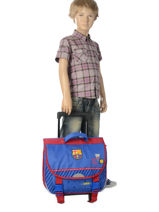 Cartable à Roulettes Fc barcelone Bleu we are 490-8799-vue-porte