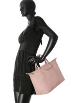 Longchamp Sac porté main Rose-vue-porte
