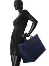 Longchamp Le pliage club Sac de voyage Bleu-vue-porte
