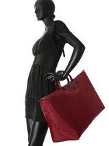 Longchamp Le pliage club Sac de voyage Rouge-vue-porte