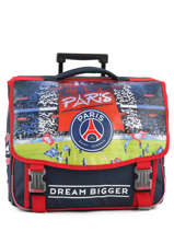 Cartable à Roulettes 2 Compartiments Paris st germain Multicolore ici c