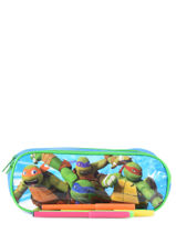 Pennenzak 2 Compartimenten Tortues ninja Veelkleurig attack AS9940-vue-porte