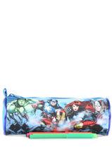 Trousse 1 Compartiment Avengers Bleu basic AST1155-vue-porte