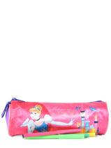 Trousse 1 Compartiment Disney Violet princess AST4917-vue-porte