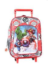 Sac à Dos à Roulettes Avengers Rouge basic AST4671