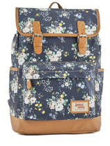 Sac à Dos 1 Compartiment Basilic pepper Noir liberty G653-FLO