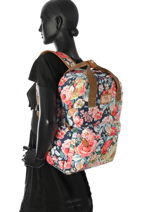 Sac à Dos 1 Compartiment Basilic pepper Multicolore liberty G657-FLO-vue-porte