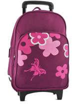 Sac à Dos à Roulettes Miniprix Violet school 15404