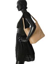 Longchamp Shop-it Besace Beige-vue-porte