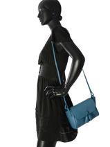 Longchamp Pénélope Sac porté travers Bleu-vue-porte