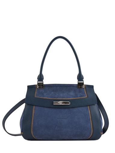 Longchamp Longchamp madeleine tribu Sac porté main Bleu