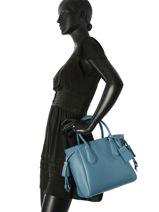 Longchamp Sac porté main Bleu-vue-porte