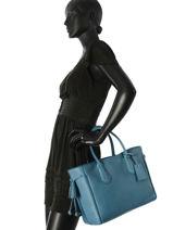 Longchamp Pénélope Sac porté main Bleu-vue-porte