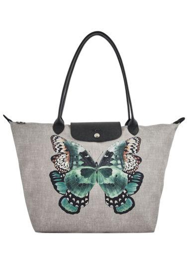 Longchamp Le pliage papillon Besace Noir