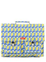 Cartable 1 Compartiment Bakker Jaune canvas CAR38CAN