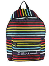 Sac à Dos 1 Compartiment Little marcel Multicolore raye NIBY