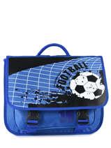 Cartable Miniprix Bleu football 1802B