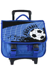 Cartable à Roulettes Miniprix Bleu football 1802T