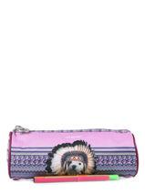 Trousse 1 Compartiment Teo jasmin Violet teo apache TAI10003-vue-porte
