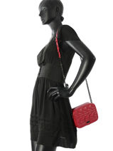 Sac Bandoulière Quilted Studs Cuir Karl lagerfeld Rose quilted studs 86KW3014-vue-porte