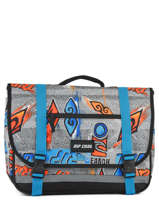 Cartable 2 Compartiments Rip curl Bleu brush stokes BBPVD2