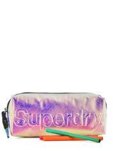 Trousse 1 Compartiment Superdry Noir accessories woomen G98005GR-vue-porte
