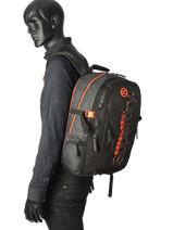 Sac à Dos 2 Compartiments Superdry Noir backpack men M91006MR-vue-porte