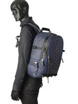 Sac à Dos 2 Compartiments Superdry Bleu backpack men M91006JR-vue-porte