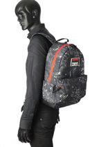 Sac à Dos 1 Compartiment Superdry Noir backpack men M91004MR-vue-porte
