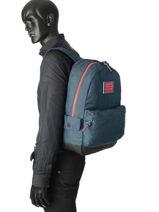 Sac à Dos 1 Compartiment Superdry Bleu backpack men M91001MR-vue-porte