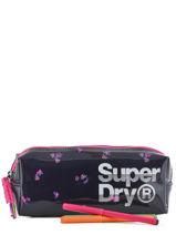Trousse 1 Compartiment Superdry Noir accessories woomen G98003GR-vue-porte