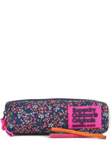 Trousse 1 Compartiment Superdry Rose accessories woomen G98003JR-vue-porte