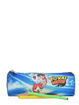 Trousse 1 Compartiment Yokai watch Bleu attack YOKEI01-vue-porte