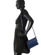 Sac Bandoulière Palma Cuir Milano Bleu palma PA17064N-vue-porte