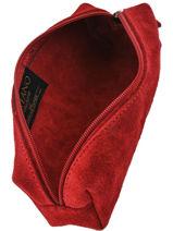 Trousse Cuir Milano Rouge velvet VE151101-vue-porte