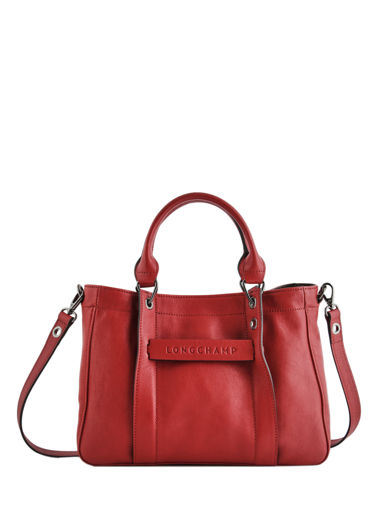 Longchamp Sac porté main Rouge