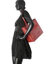Longchamp Shop-it Besace Rouge-vue-porte