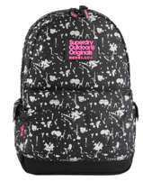 Sac à Dos 1 Compartiment Superdry Noir backpack woomen G91007JR