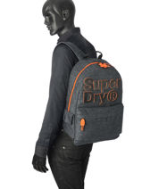 Sac à Dos 1 Compartiment Superdry Gris backpack men M91000MR-vue-porte
