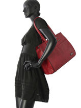 Sac Shopping Format A4 Gallantry Rouge format a4 M9282-1-vue-porte