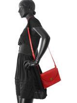 Sac Bandouliere Vintage Cuir Nat et nin Rouge vintage SALLY-vue-porte