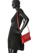 Sac Bandouliere Vicky Cuir Nat et nin Rouge vintage VICKY-vue-porte