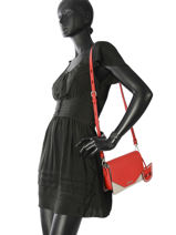 Sac Bandoulière Karry All Cuir Karl lagerfeld Rouge karry all 86KW3028-vue-porte